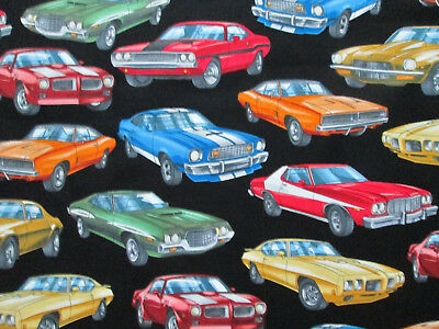 Muscle Cars Luxury Hot Rods Car Cotton Fabric Fq