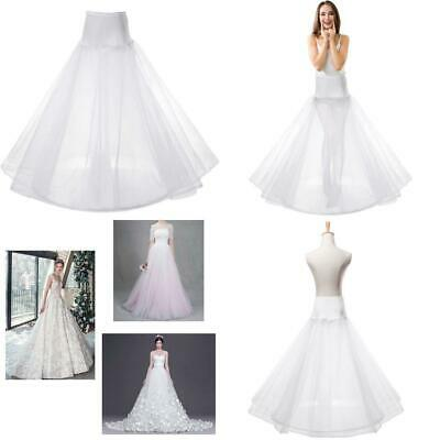 Womens A-line One Hoop Bridal Petticoat 3-Layers Gown Slips Crinoline...