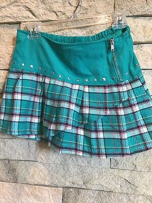 Cute Justice Green Square Skirt  Size 14