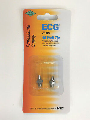 Replacement Tips for J-045-DS - 45W Desoldering Iron - ECG/NTE JT-103 - PK/2