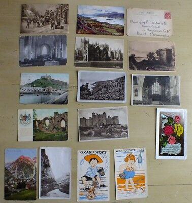 Job lot old vintage postcards collection early 1900s