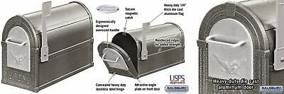 Salsbury Industries 4855E-PWS Eagle Rural Mailbox, Pewter/Silver
