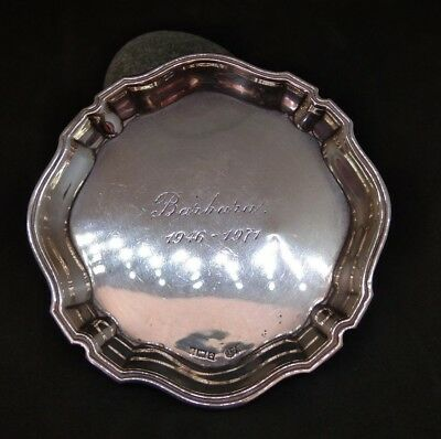 Antique 1946 Small Pin Tray Solid Silver  Hallmarked