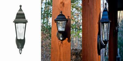 Maxsa 44219 Battery-Powered Motion-Activated Wall Sconce in Black