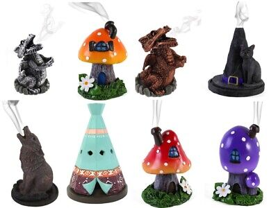 incense cone burner GIFT wolf toadstool witch tree dragon Lisa Parker FREE CONES