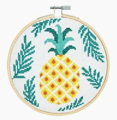 DMC ~ Counted Cross Stitch Kit ~ Pineapple ~ Hoop Included ~ BK1833L