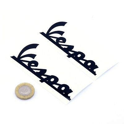 Vespa Text Stickers Decal Vinyl 100mm x2 Motorcycle Scooter Tank Fairing