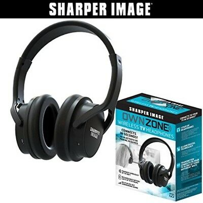 Sharper Image Own Zone Wireless TV Headphones- Black