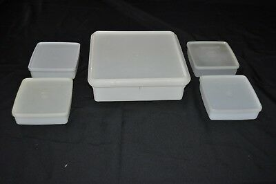 10 pc 1 large VINTAGE TUPPERWARE RECTANGLE  SAVER + 4 sandwich keepers FRESH