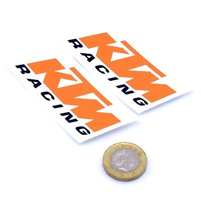 KTM Racing Decal Vinyl Motorbike Motorcycle STICKERS 75mm x2