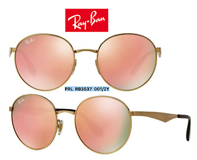 9a488a7fd3241 Ray-Ban RB3537 001 2Y Highstreet Sunglasses Gold Copper Mirror 100%  Authentic