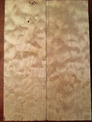 """Quilted Maple Exotic Wood Knife Scale 6"""". # 1865"""