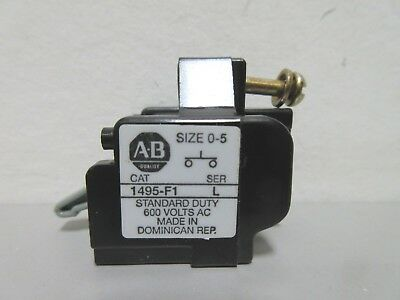 New Allen-Bradley 1495-F1 Series L Auxiliary Contact