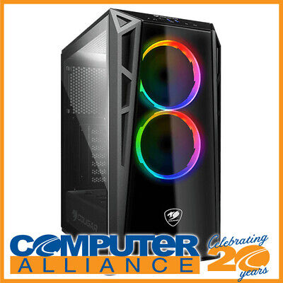 Cougar ATX Turret RGB Tempered Glass Case Black (No PSU)
