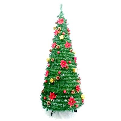 ALEKO Pre-Decorated Instant Pop Up Christmas Holiday Tree 6 Foot
