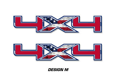 """4x4 Off Road Truck Bed Decal Set For Ford F150 Raptor Vinyl Stickers 16/""""x5/"""" SUBD"""