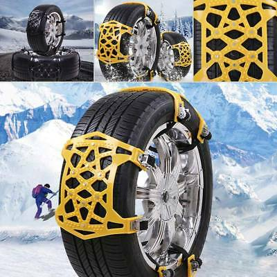 6x Anti-Snow Anti-Skid Car Tire Chains for Snowfield Slope Muddy Icy Ground