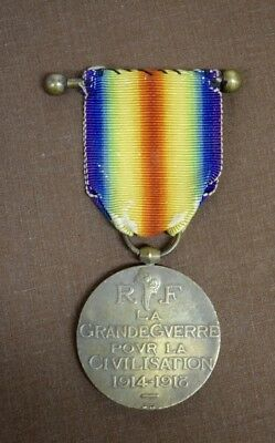 WW1 France Official Military Victory Medal, designed by Morlon