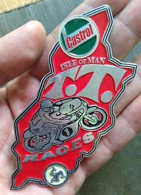 Isle Of Man TT 1970 Suzuki Yamaha Norton Ton Up Cafe Racer Honda Triumph BADGE