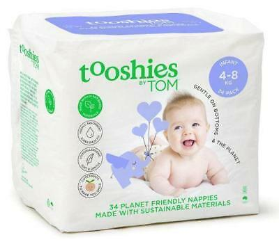 Tooshies by TOM Organic Nappies Infant 4-8kg 34 Pack