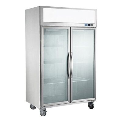 F.E.D SUFG1000 Double Door Upright Commerical Glass door Display Freezer / refur