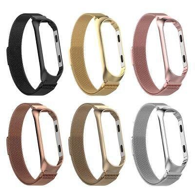 Milanese Stainless Steel Watch Band Strap w/Frame for Xiaomi MI Band 3 L/S BEST