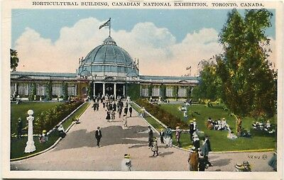 (#403) Horticultural Bldg Canadian National Exhibition Toronto 1920s Postcard