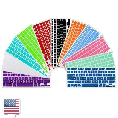"Color Silicone Keyboard Skin Cover Film For Apple Macbook Pro 13"" 15"" 17"""