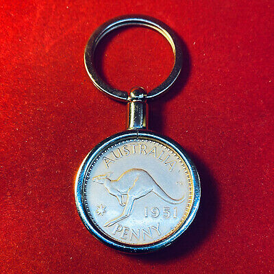 1948 Birthday Gift Present Australian Penny Keyring other years available