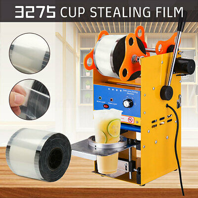 Roll Sealer Film Cup Boba Bubble Tea Milk Cups Clear Sealing Drinks Shop Machine