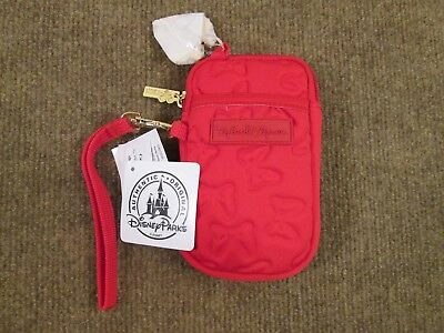 Disney Parks Authentic Minnie Mouse Smartphone Case Red Fabric w/ Bows