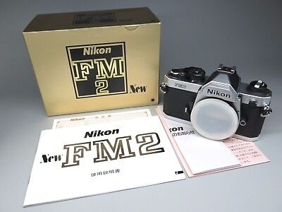 *New Never Used* Nikon FM2 35mm SLR Film Camera Body Only, Silver Chrome