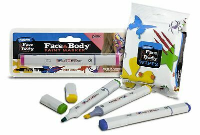Derivan Face & Body Paint Markers & Wipes Halloween on Sale