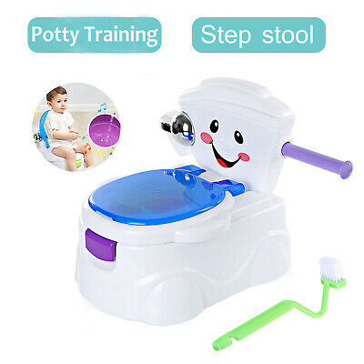 Baby Kids Children Toddler Potty Toilet Training Trainer Musical 2 in 1 Seat UK