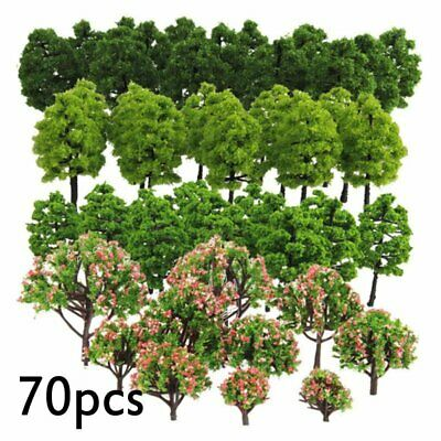 70pcs Model Trees 3-9cm HO Z TT Scale for Sand Table Scenery DIY Accessories