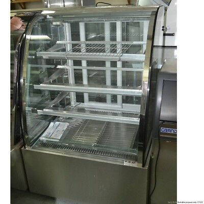 Commerical Heated 4 Tier Hot Food Curved Glass Display Cabinet Bar 900x740x1520