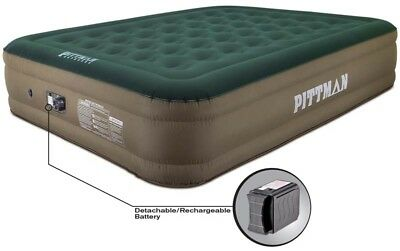 Queen Fabric Ultimate 16 Air Mattress w/Built-in Rechargeable Air Pump