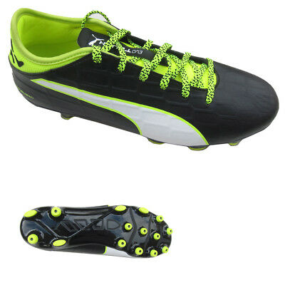 3bf04496f7a0 Puma Youths Kids evoTouch 3 AG Jr Black Yellow Football Boots UK4.5 or