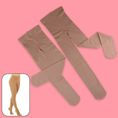 Footed Ice Roller Skating Dance Tights Various Sizes Natural Tan  8-14 S M L