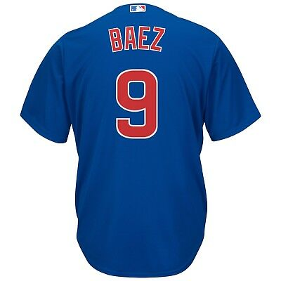 Men 2XL Chicago Cubs Majestic Replica Cool Base Alternate Jersey - Baez 9 M69