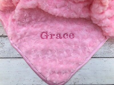 Personalised Luxury Baby Blanket Soft Fluffy Name Embroidered Birth Gift Newborn