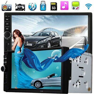 "7"" Double 2 DIN Car Stereo Radio Fm/mp5 Player Bluetooth HD 1080p Touch Scree"
