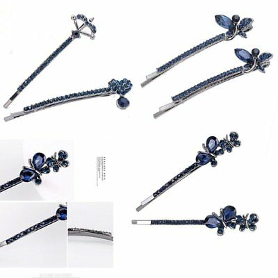 2 Pcs/Set Crystal Rhinestone Hairpin Clips Womens Hiar Jewellery Wedding Gift