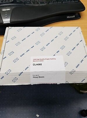 Box of Nearly 1000 Single 165mm x 44mm Franking Machine Labels CLA002 Clearance