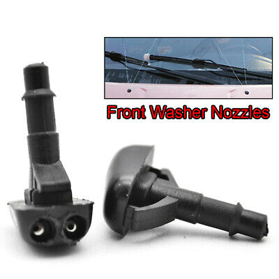 Pair Wiper Washer Nozzle Jet For Mitsubishi Pajero L200 Lancer Colt CZC ABS