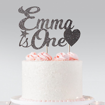 Personalised 1st Birthday Custom Cake Topper Glitter Name & Any Age 2, 10 21st