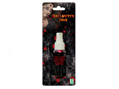 Sangue finto Spray nero make up 30 ml  horror dracula zombie Halloween carnevale