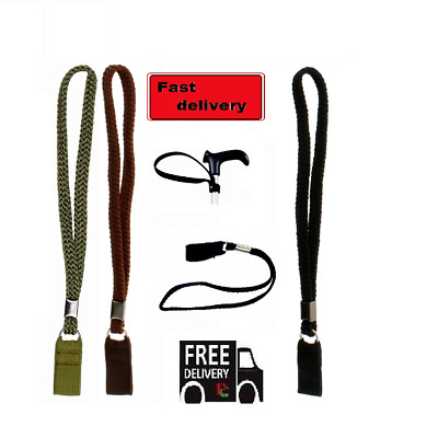 Universal Walking Stick WRIST CORD Walkers & Cane Easy Fitted Wrist Strap Loop