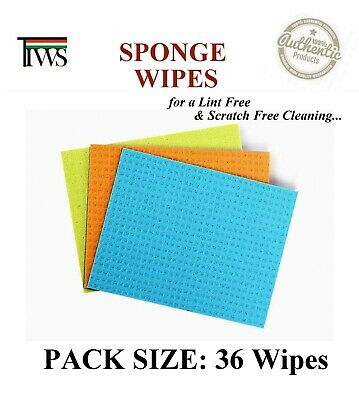 12 x Cleaning Sponge 3 Wipes Set Scratch Free Clean Cleaning Wipe