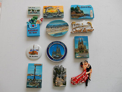 One Selected Souvenir Fridge Magnet from Catalonia incl Barcelona Spain